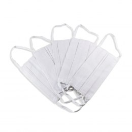 Cotton mask - white 5x