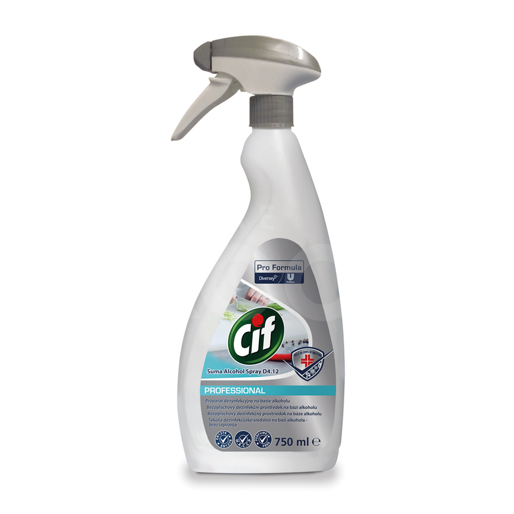 Cif Alcohol Spray D4.12 6x750 ml Spray Disinfectant